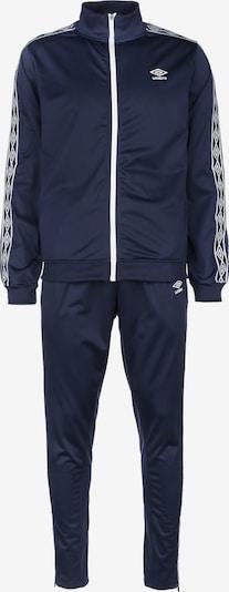 UMBRO Trainingsanzug in dunkelblau / weiß, Produktansicht