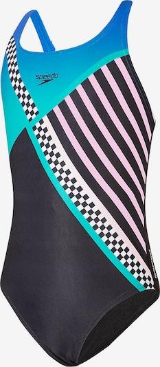 SPEEDO Badeanzug 'DIGI' in cyanblau / pink / schwarz / weiß, Produktansicht