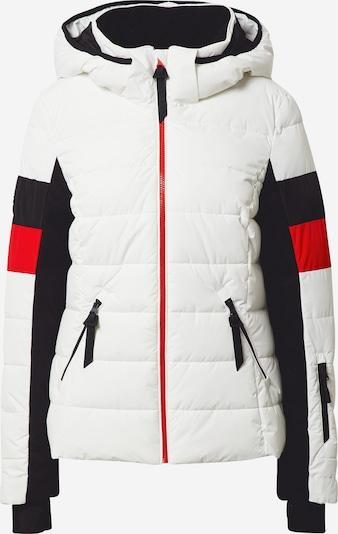 Superdry Snow Sportjas in de kleur Vuurrood / Zwart / Wit, Productweergave