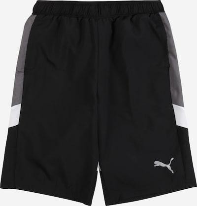 PUMA Pantalon de sport en gris fumé / noir / blanc, Vue avec produit