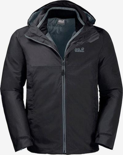 JACK WOLFSKIN Outdoorjas 'North Fjord' in de kleur Zwart, Productweergave