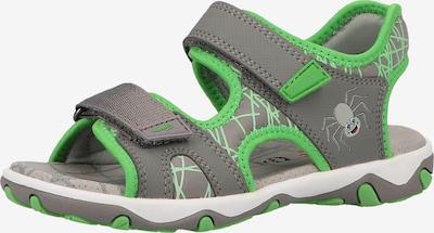 SUPERFIT Sandale in grau / grasgrün, Produktansicht