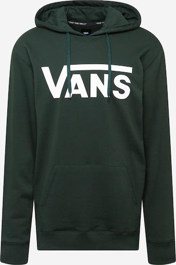 VANS Sportisks džemperis, krāsa - tumši zaļš / balts, Preces skats