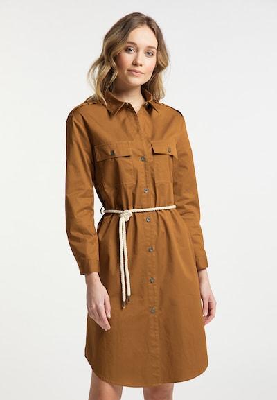 DreiMaster Vintage Blusenkleid in braun / cognac, Modelansicht