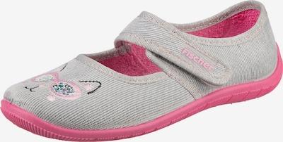 Fischer-Markenschuh Hausschuh in grau / pink, Produktansicht