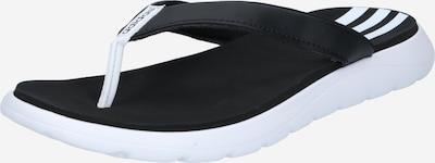 ADIDAS PERFORMANCE Iešļūcenes/baseina apavi, krāsa - melns / balts, Preces skats