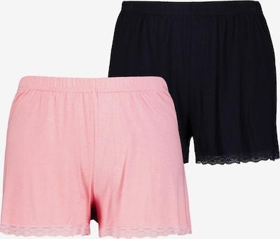 Ulla Popken Pyjamabroek in de kleur Pink / Zwart, Productweergave