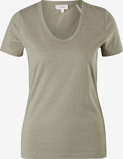 s.Oliver T-shirt en kaki, Vue avec produit