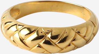 Orelia Waffle Ring 'Domed' in gold, Produktansicht