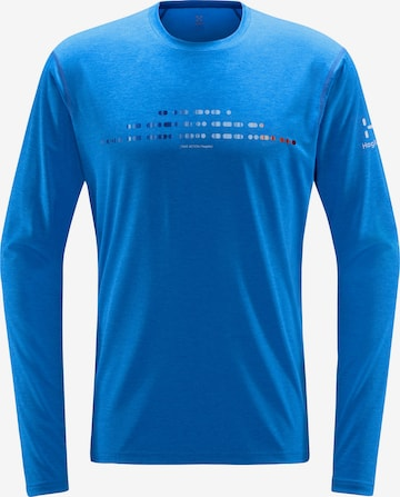 T-Shirt fonctionnel 'Ridge' Haglöfs en bleu