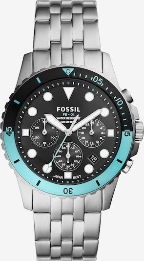 FOSSIL Montre à affichage analogique en bleu / noir / argent, Vue avec produit