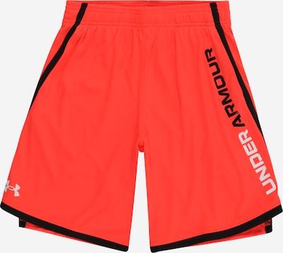 UNDER ARMOUR Sporthose 'UA Stunt 3.0' in hellgrau / orangerot / schwarz, Produktansicht