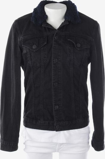 All Saints Spitalfields Jeansjacke in L in schwarz, Produktansicht