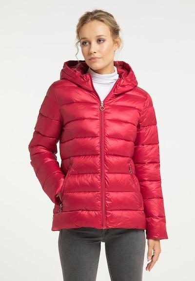 Giacca invernale DreiMaster Maritim di colore rosso pastello: Vista frontale