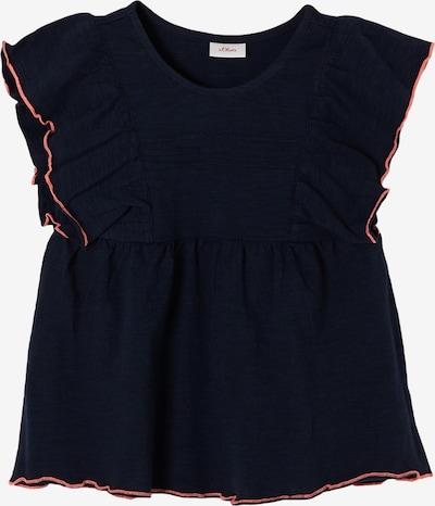 s.Oliver Shirt in de kleur Donkerblauw / Koraal: Vooraanzicht
