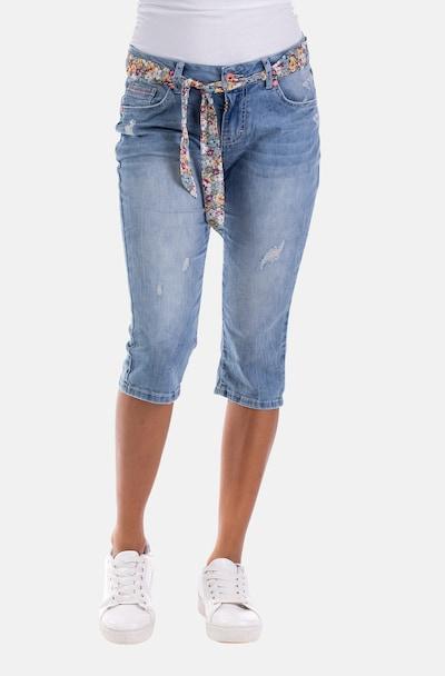 Blue Monkey Capri Jeans in blau, Modelansicht