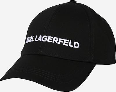 Karl Lagerfeld Cap in schwarz / weiß, Produktansicht