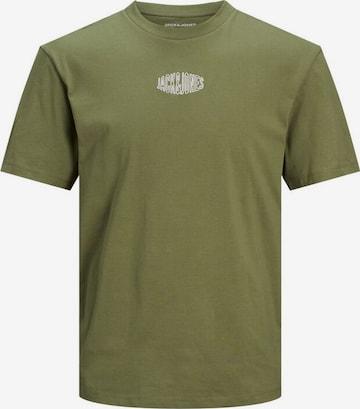 JACK & JONES T-Shirt 'WORLDS' in Grün