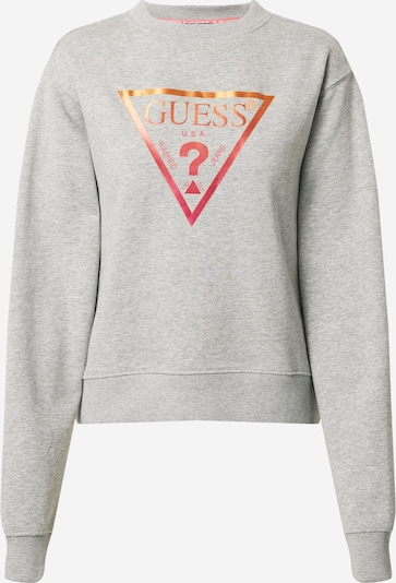 GUESS Sweatshirt i grå / röd, Produktvy