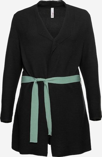 Geacă tricotată SHEEGO pe jad / negru, Vizualizare produs