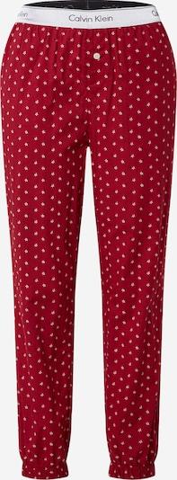 Pantaloni de pijama Calvin Klein Underwear pe pitaya / alb, Vizualizare produs