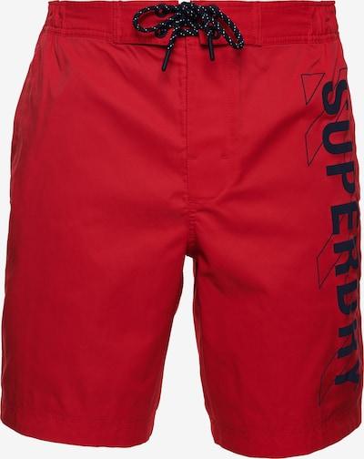Superdry Boardshorts in de kleur Rood / Zwart, Productweergave