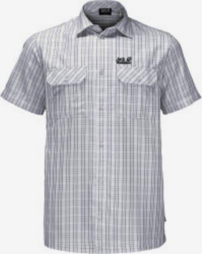 JACK WOLFSKIN Outdoorhemd 'Thompson' in grau / weiß, Produktansicht