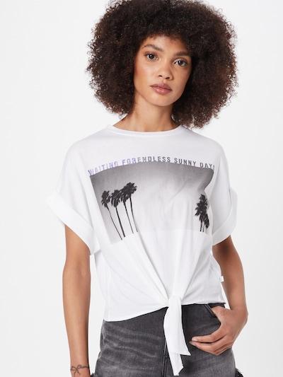 Q/S by s.Oliver T-shirt en gris / noir / blanc: Vue de face