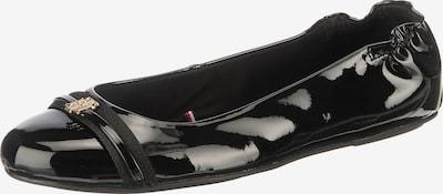 TOMMY HILFIGER Balerīntipa apavi 'Block Branding' melns, Preces skats