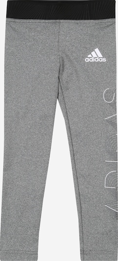 ADIDAS PERFORMANCE Sports trousers in grey / black / white, Item view