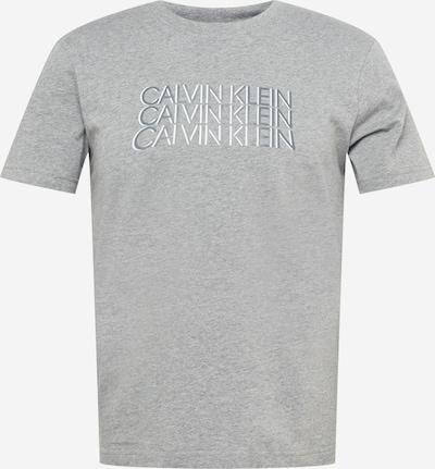 Calvin Klein Tričko - stříbrně šedá / šedý melír / bílá, Produkt