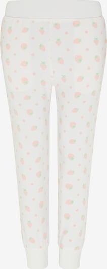 myMo KIDS Pantalon en vert clair / rose pastel / blanc cassé, Vue avec produit