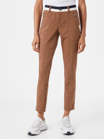 Kelnės iš STREET ONE , spalva - ruda / juoda / balta, Modelio vaizdas