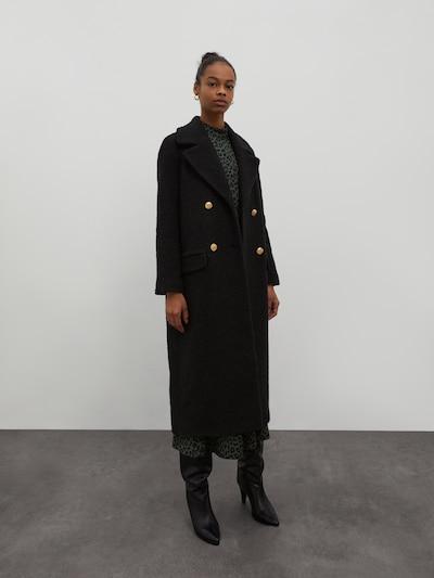 EDITED Prijelazni kaput 'Maida' u crna, Prikaz modela