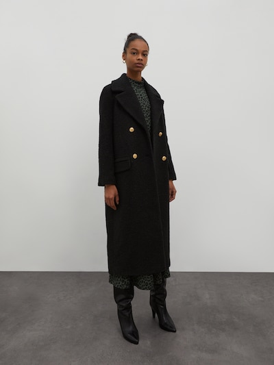 EDITED Tussenmantel 'Maida' in de kleur Zwart, Modelweergave