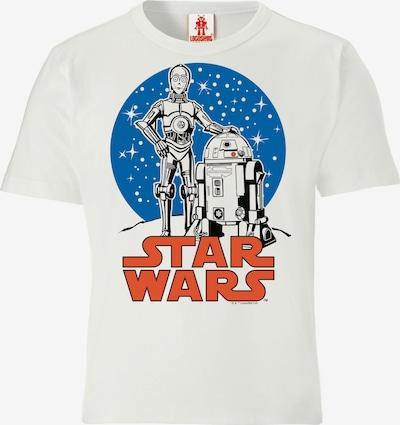 LOGOSHIRT T-Shirt 'Star Wars - Droids' in weiß, Produktansicht
