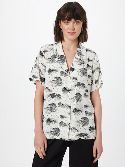 modström Bluse 'Ivar' in schwarz / weiß, Modelansicht