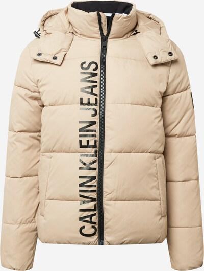 Calvin Klein Jeans Jacke in beige / schwarz, Produktansicht