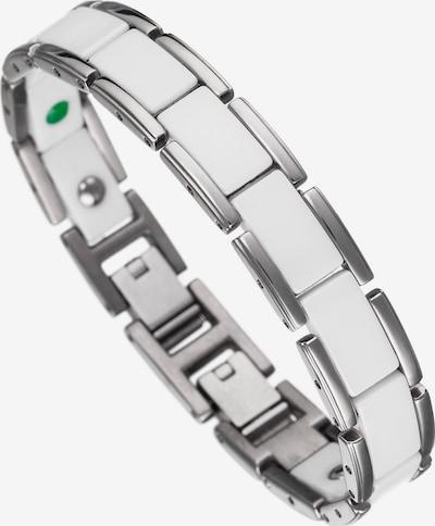 Lunavit Armband Magnet Keramikarmband Olymp in silber / weiß, Produktansicht