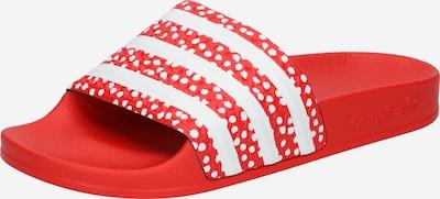 ADIDAS ORIGINALS Pistokkaat 'Adilette' värissä punainen / valkoinen, Tuotenäkymä