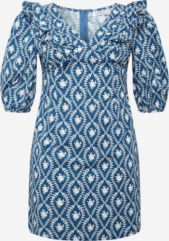 GLAMOROUS CURVE Kleid in Blau