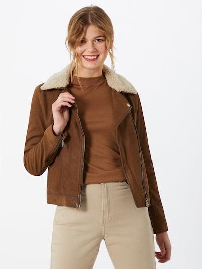 OAKWOOD Overgangsjakke 'Follower' i brun: Frontvisning