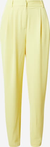 Guido Maria Kretschmer Collection Pleat-Front Pants 'Mila' in Yellow