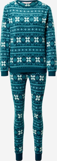 Hunkemöller Pijama en petróleo / blanco, Vista del producto