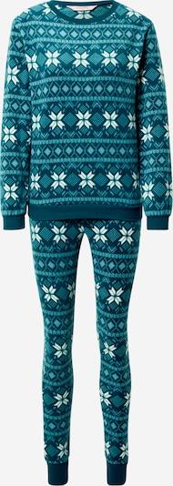 Pijama Hunkemöller pe petrol / alb, Vizualizare produs