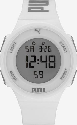PUMA Digitaluhr in Weiß