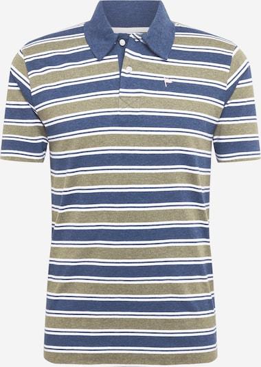 Tricou 'BEANS' Wemoto pe albastru fumuriu / kaki / alb, Vizualizare produs
