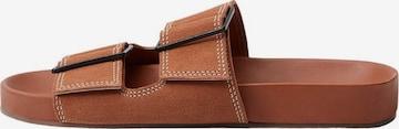 MANGO Pantoletter 'Ceuta' i brun