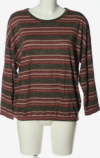Bellerose Rundhalspullover in L in khaki / rot / wollweiß, Produktansicht