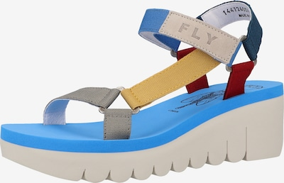 FLY LONDON Sandalen in blau / grau / rot, Produktansicht